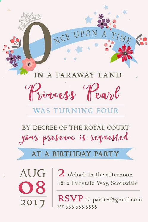 Princess Invitation - Digital Download