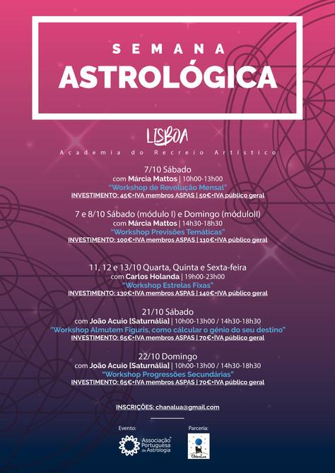 Semanas Astrológicas - LISBOA!
