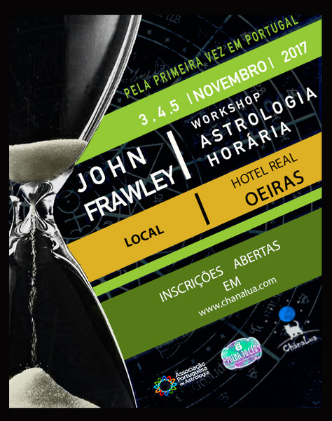 Pela primeira vez John Frawley em Portugal! For the first time John Frawley in Portugal!