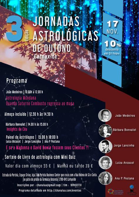 Jornadas Astrológicas de Outono - 3ª Edição - 17 de Nov