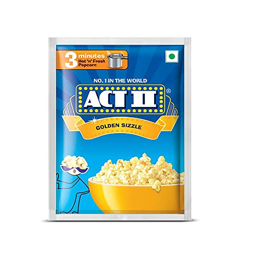 ACT II Instant Popcorn Golden, (30g + 11g Each)