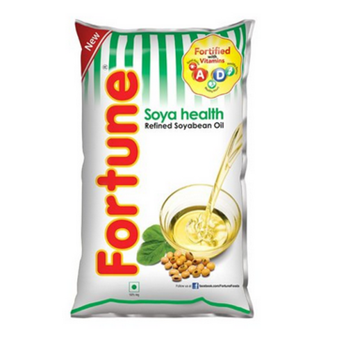 Fortune Soya Health Refined Soyabean Oil (Pouch)