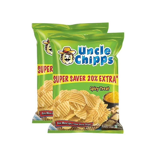 Uncle Chipps Spicy Treat Chips - Pack of 2