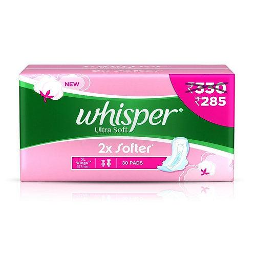 Whisper Sanitary Napkin Ultra Soft XL, 15N