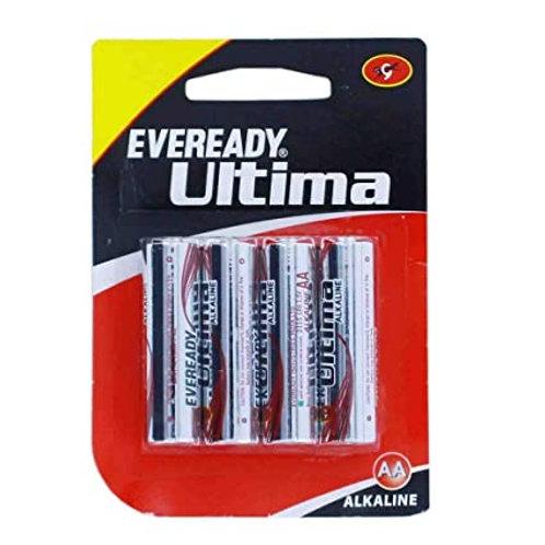 Eveready Batteries Ultima, AA, 4N