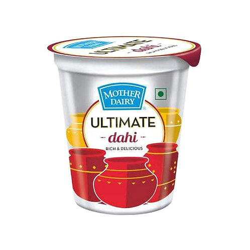 Mother Dairy Curd Plain Cup, 400 g