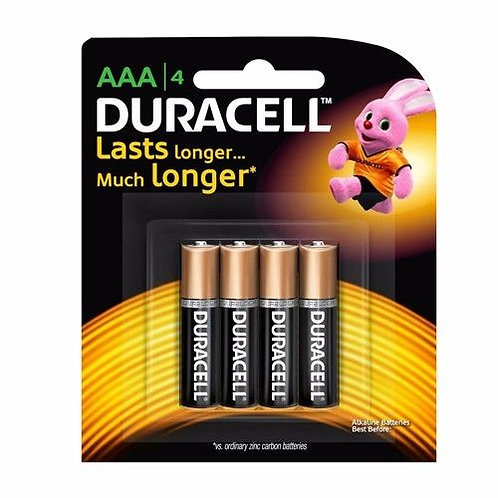 Duracell AAA Battery (Pack of 4)
