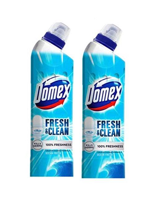 Domex Ocean Fresh Toilet Cleaner (Bottle) - Pack of 2