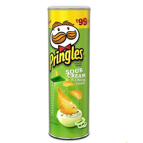 Pringles Cream N Onion Chips 107 g