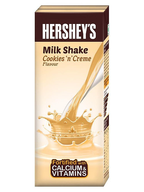 Hershey's Cookies N Crème Milk Shake 200 ml Pack of 2