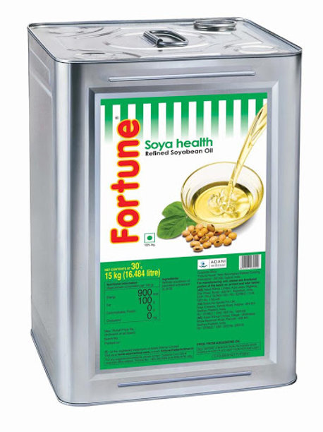 Fortune Soyabean Oil Tin, 15 kg