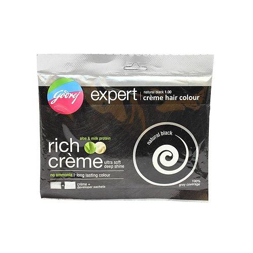 Godrej Expert Hair Color Natural Black Crème, 20 g + 20 ml