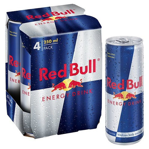 Red Bull Energy Drink Can, 4 N (250 ml Each)