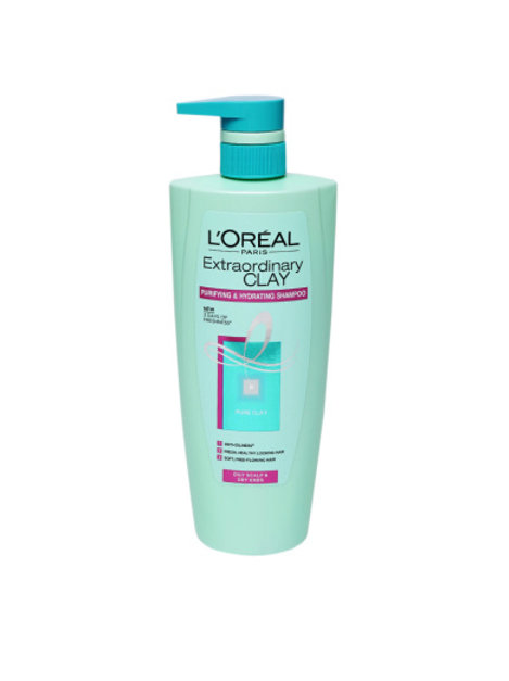 L'Oreal Paris Shampoo Pure Clay, 640 ml