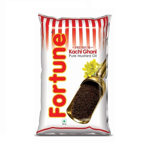 Fortune Premium Kachi Ghani Pure Mustard Oil (Pouch)