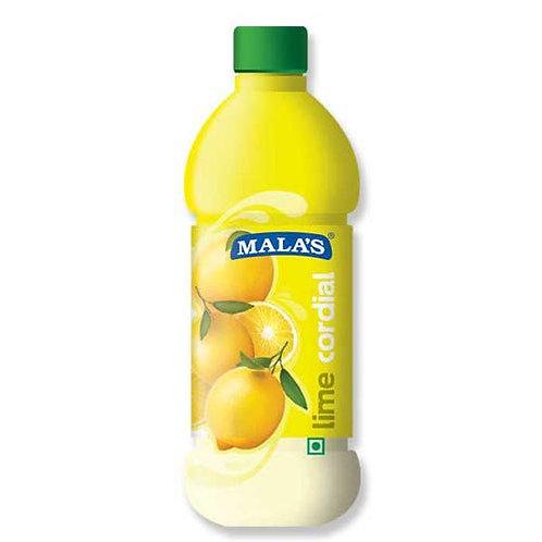 Mala Squash Lime Cordial, 1 L