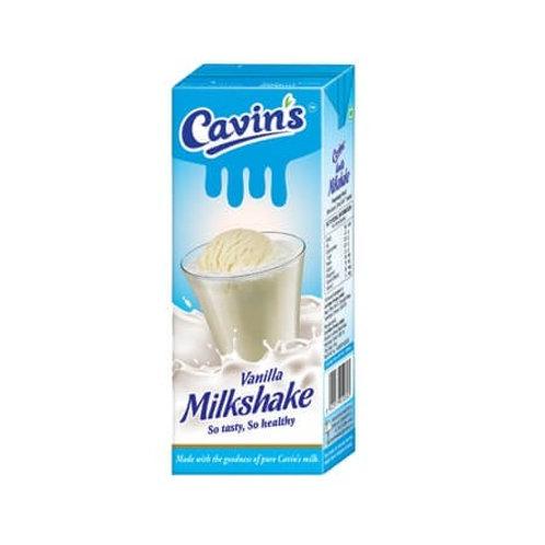 Cavin's Vanilla Milkshake 180 ml Pack of 2