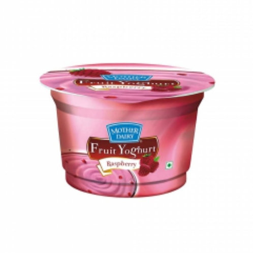 Mother Dairy Yoghurt Raspberry, Cup, 100 g