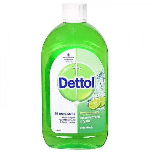 Dettol Disinfectant Liquid Lime Fresh 1 L
