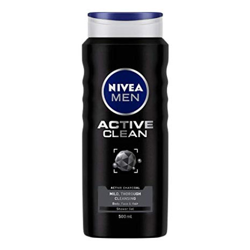 Nivea Body Wash For Men Active Clear, 500 ml