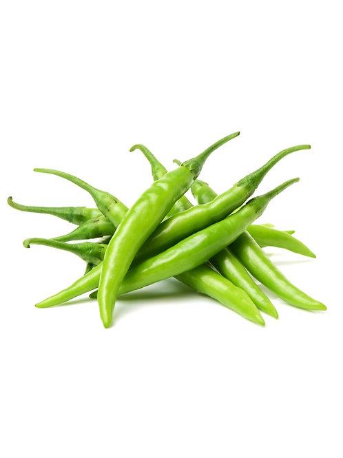 Hari Mirchi (हरी मिर्च) / Green Chilli 250g