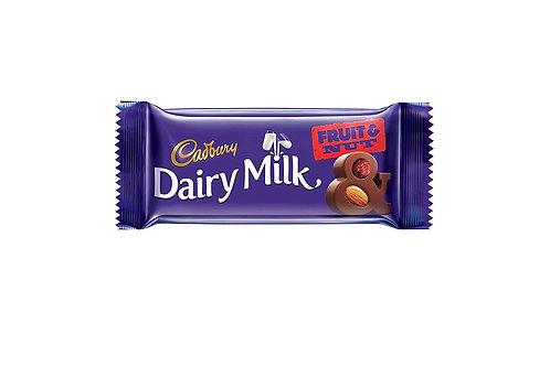 Cadbury Dairy Milk Chocolate Bar Fruit & Nut, 38 g