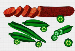 Andouille and Okra