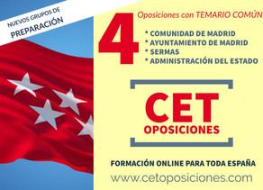 OPOSICIONES AUXILIAR ADMINISTRATIVO COMUNIDAD DE MADRID, SERMAS, ESTADO Y AYUNTAMIENTO DE MADRID