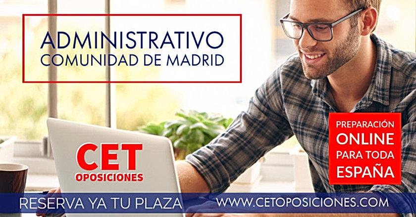 Oposiciones Administrativo Comunidad de Madrid
