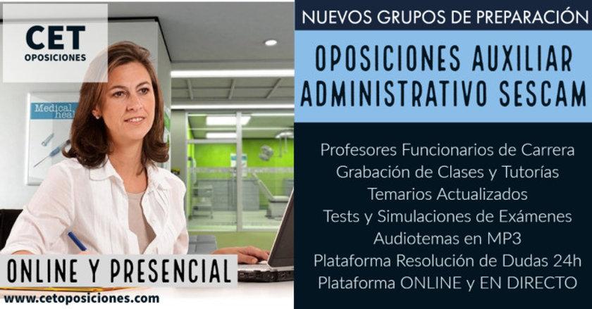 Oposiciones Auxiliar Administrativo del