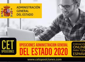 APROBADA OFERTA DE EMPLEO PUBLICO 2020 ADMINISTRACIÓN GENERAL DEL ESTADO