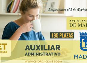 OPOSICIONES AUXILIAR ADMINISTRATIVO AYUNTAMIENTO DE MADRID 2020 - 2021