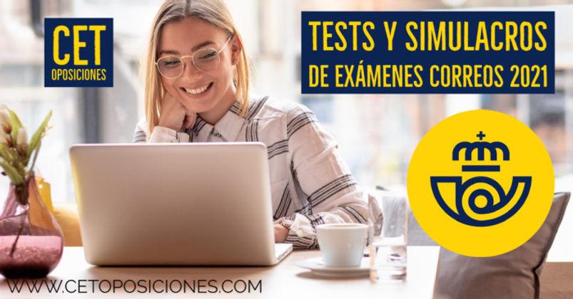 Test y  Simulacros de examen Correos 202