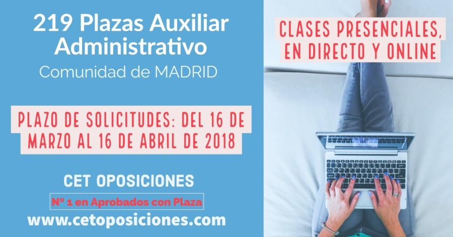 Oposiciones Auxiliar Administrativo Comunidad de Madrid