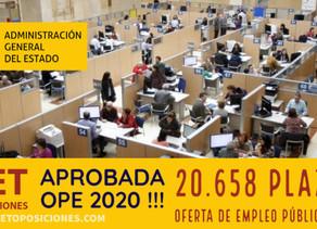 El Estado ha aprobado 20.658 Plazas Oferta de Empleo Público 2020