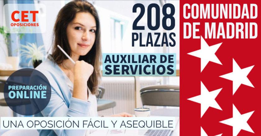 Oposiciones Auxiliar de Servicios Madrid