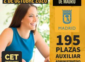 CONVOCATORIA OPOSICIONES AUXILIAR ADMINISTRATIVO AYUNTAMIENTO MADRID