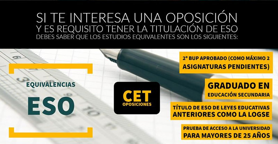 Academia CET OPOSICIONES Equivalecias ESO