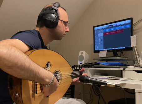 Turkish Oud Artist Baha Yetkin, recording Diamond In Black