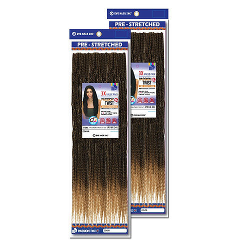 Eve Hair Pre-stretched Passion Twist 3x value pack