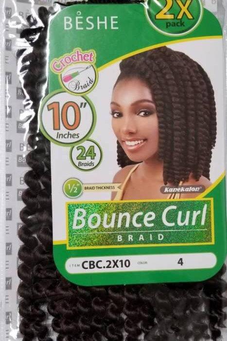 "Beshe - Bounce Curl Braid 2X Pack 10"""