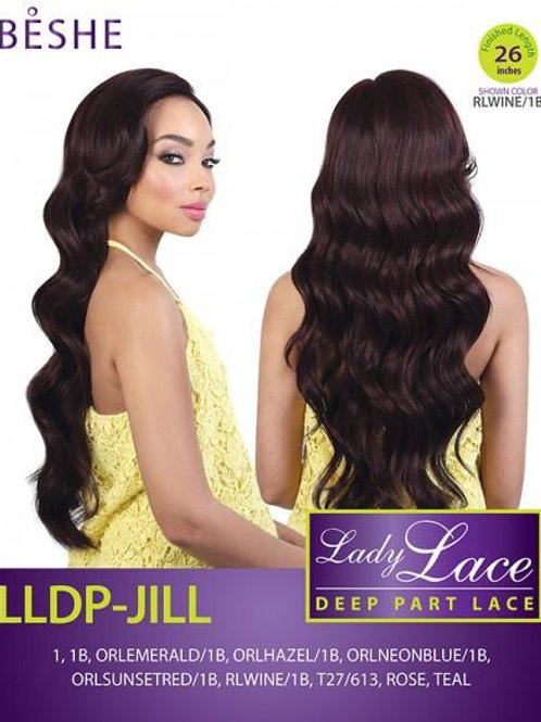"BESHE LADY LACE DEEP 5"" PRE-PLUCKED PART LACE FRONT WIG LLDP-JILL"