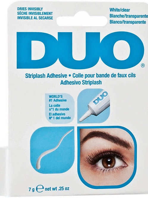DUO- white/clear Striplash Adhesive