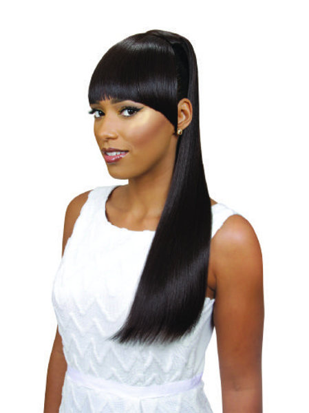 EVE HAIR - FRINGE PONYTAIL 100 % HEAT RETARDANT STYLE: TYRA