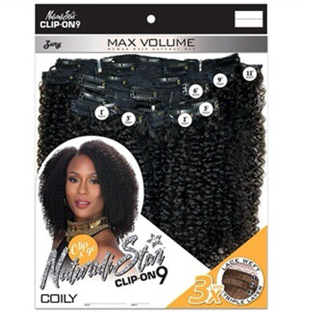 """Naturali Star Clip-On 9- Coily 10"""""""