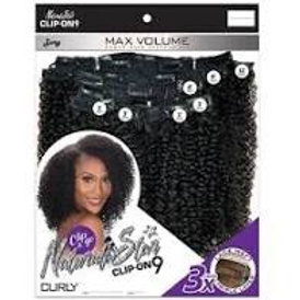 Naturali Star Clip-On 9- Curly 10""