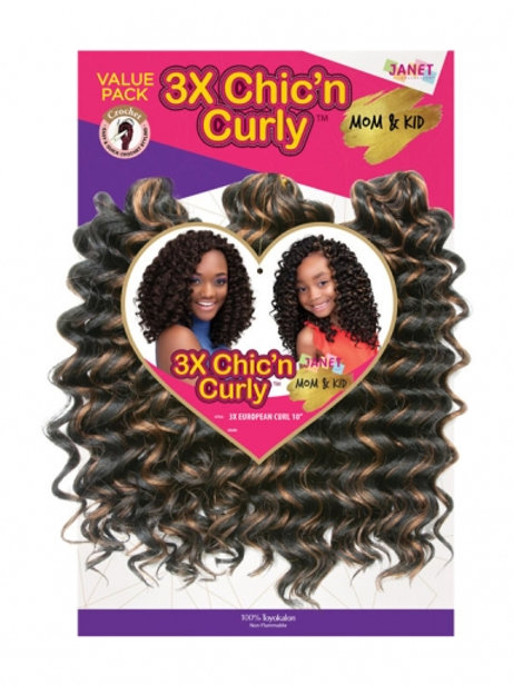 Janet Collection - 3X Chic N Curly European Curl 10""