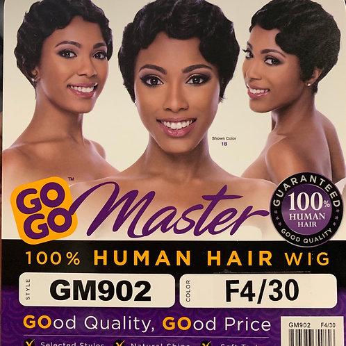 Gogo Master 100% Human Hair Wig GM902