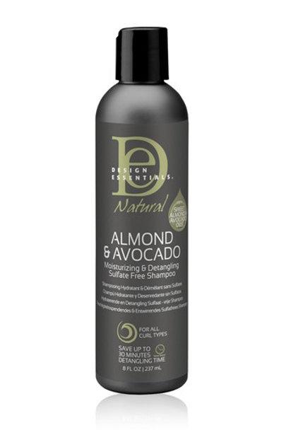 Design Essentials Natural Almond & Avocado Moisturizing & Detangling Shampoo