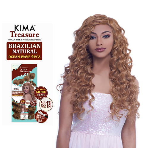 KIMA Treasure - Brazilian Natural Ocean Wave 4 pcs